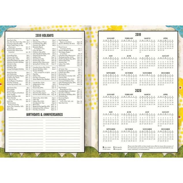 Simple Life Monthly Pocket Planner, Lang Folk Art by Calendars