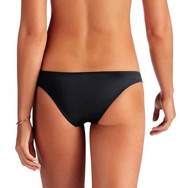 New Vitamin A Womens Stretch Side Slit Swim Bottom Separates Black SZ