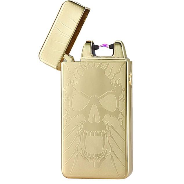 Golden Skull Rechargeable Windproof Lighter