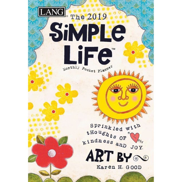 Simple Life Monthly Pocket Planner, Lang Folk Art by Calendars