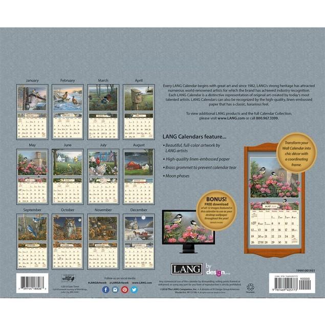 Meadowland Wall Calendar, Lang Folk Art by Calendars