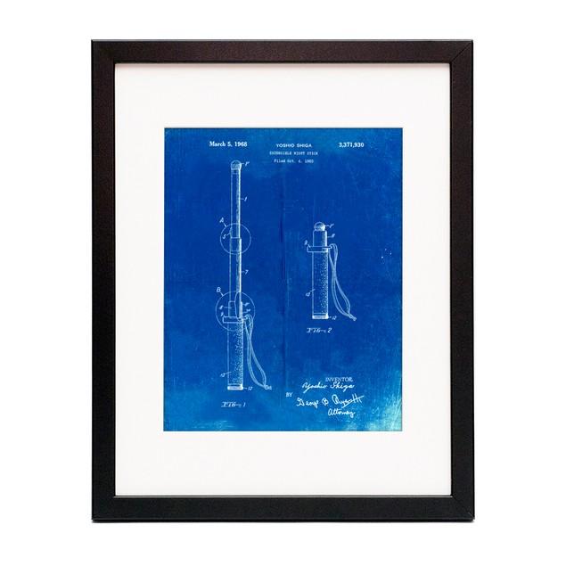 Night Stick Patent Poster