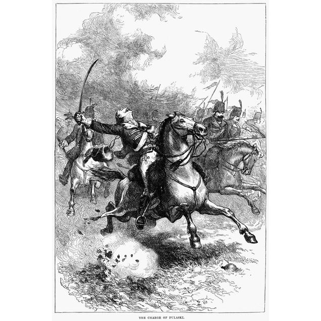 Casimir Pulaski (1748-1779). /Npolish Soldier In America. Pulaski Mortally