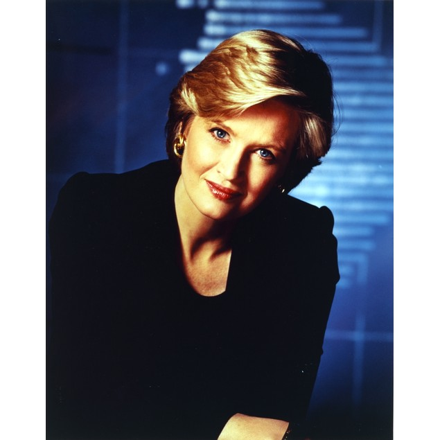 Diane Sawyer in Black Blouse Portrait Poster