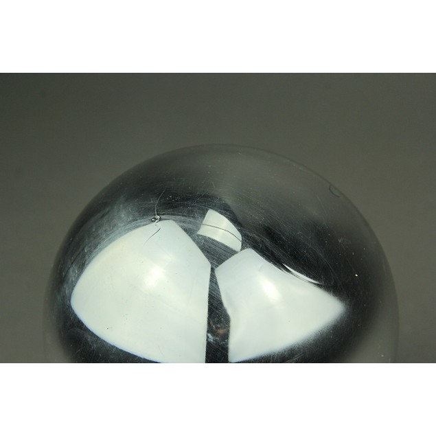Mirror Finish Orbs Metallic Silver Decor Sphere Decorative Fruit And Balls