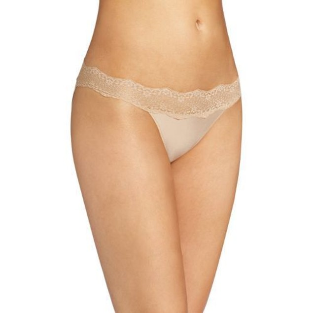 Le Mystere Women's Perfect Pair Bikini Panty, Natural, SIZE LARGE