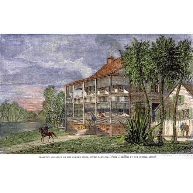Planter'S Mansion. /Nplantation On The Cumbee River, South Carolina. Wood E