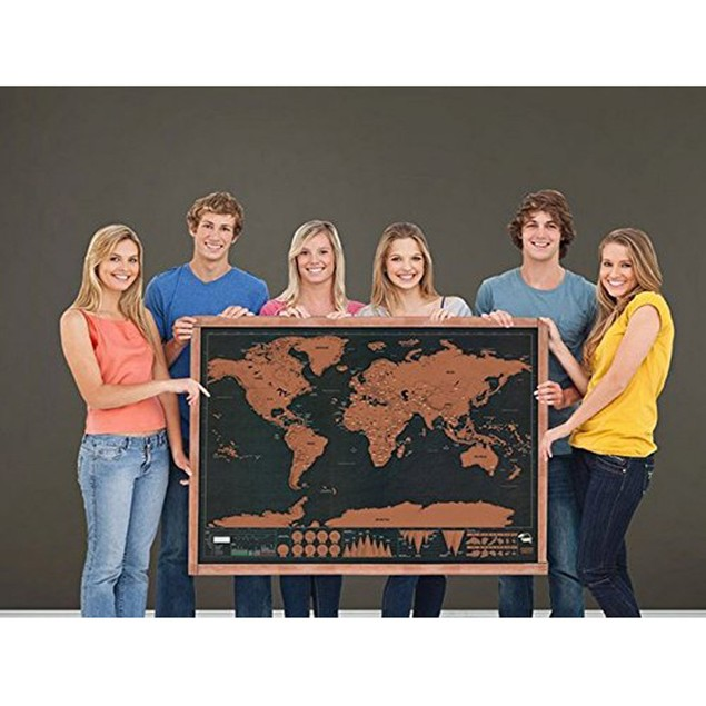 Scratch Map World Map With Scratch Places You Visited 82.5 X 59.3 CM