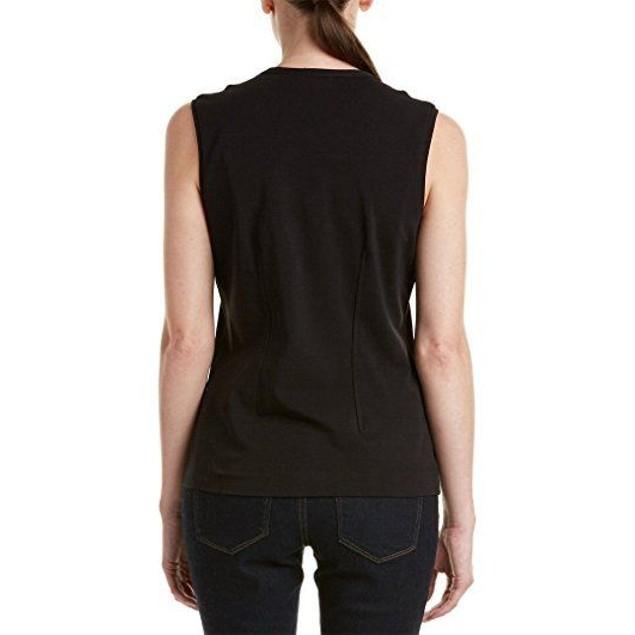 NIC+ZOE Women's Softly Ruffled Top Black Onyx Blouse SIZE SMALL (4/6)