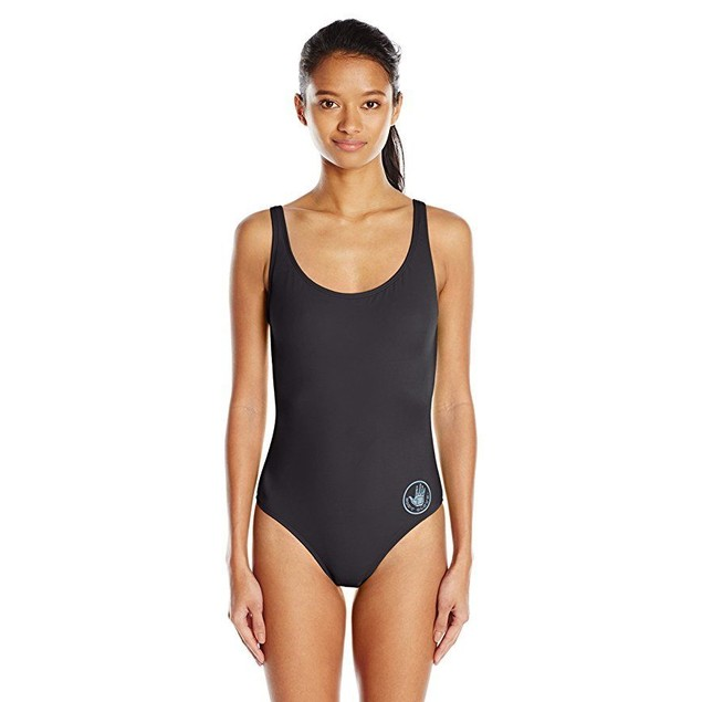 Body Glove Junior's Smoothies U and Me One Piece Swimsuit, Black, XS