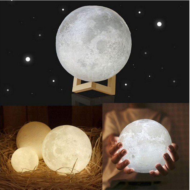 USB LED Moon Lamp - 4 Sizes