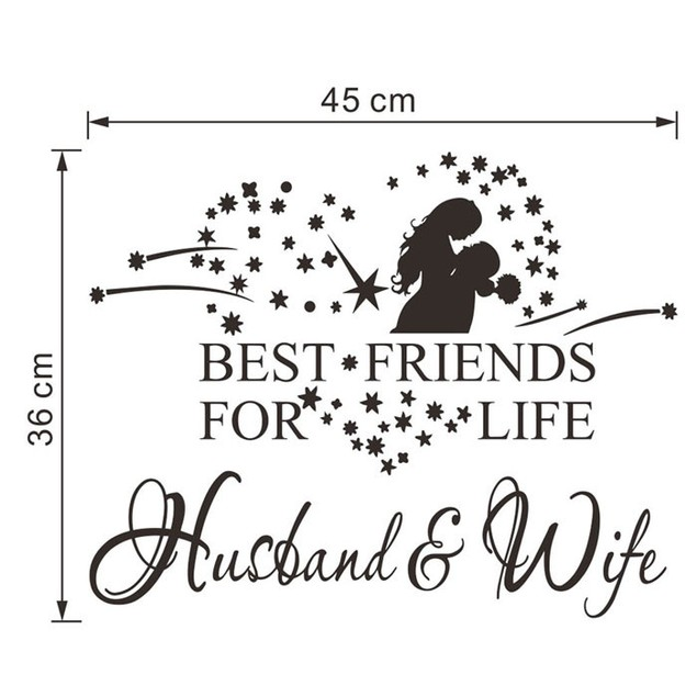Husband And Wife Vinyl Decal Bedroom Wall Art Decor Sticker Home Decor