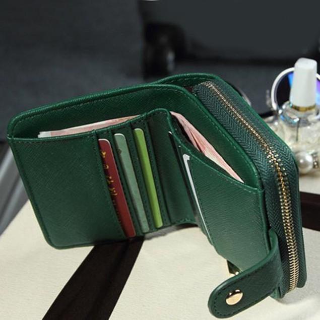 Purse Clutch Wallet Short Small Bag  Card Holder For Lady Women Y