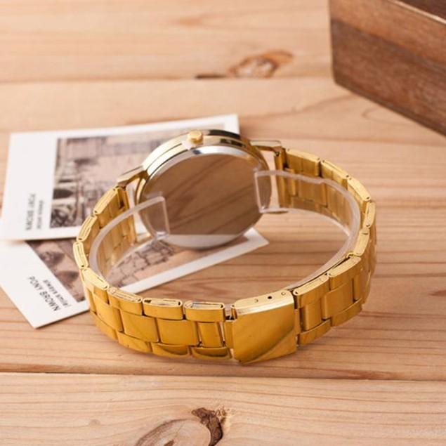 WoMEN Roman Numerals Quartz Stainless Steel Wrist Watch 2