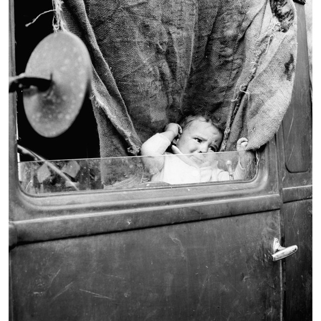 Migrant Baby, 1939. /Na Baby From Mississippi Parked In A Truck At A Camp F