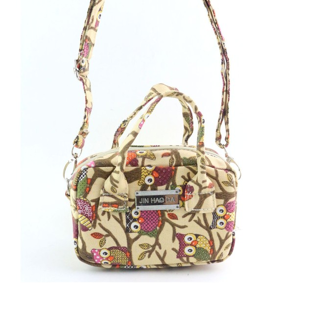 Women Handbag Owl Pattern Shoulder Bag Large Tote Purse