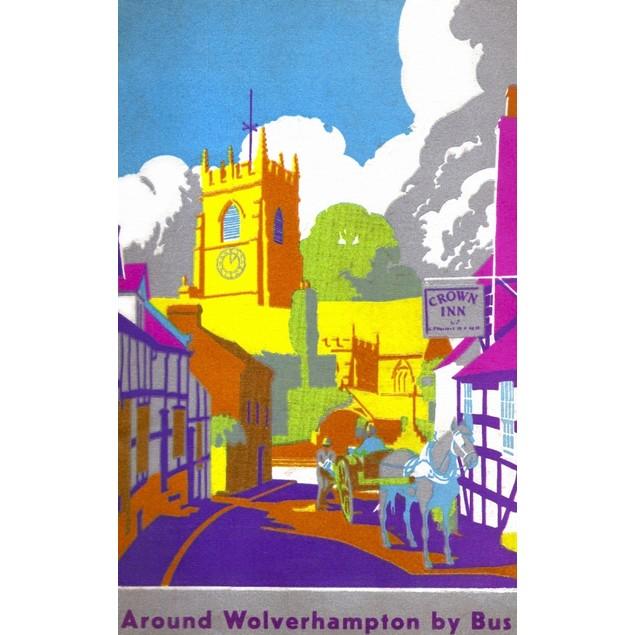 Wolverhampton Corporation Transport guide book cover, Claverley, Staffordsh