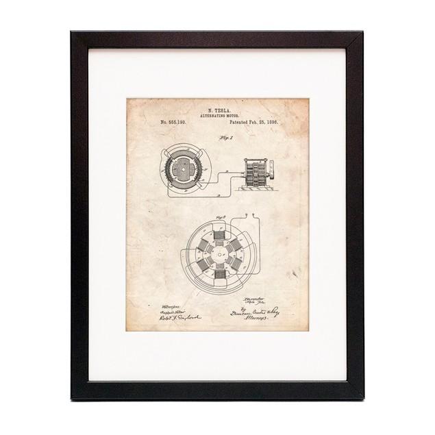 Tesla Alternating Motor Patent Poster
