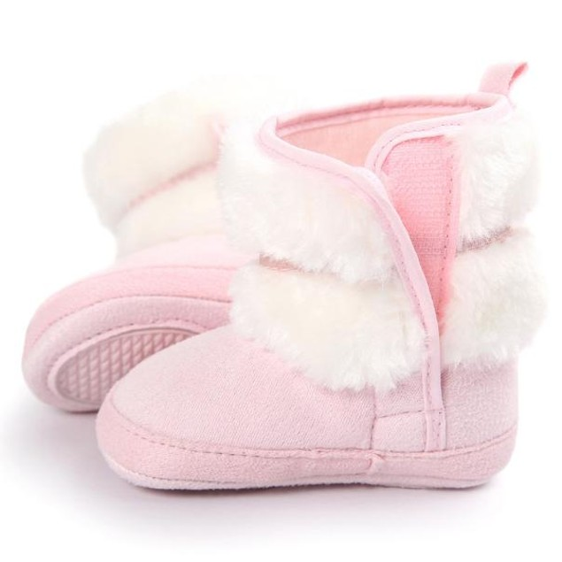 Baby Bowknot Soft Sole Snow Boots Soft Crib Shoes Toddler Boots