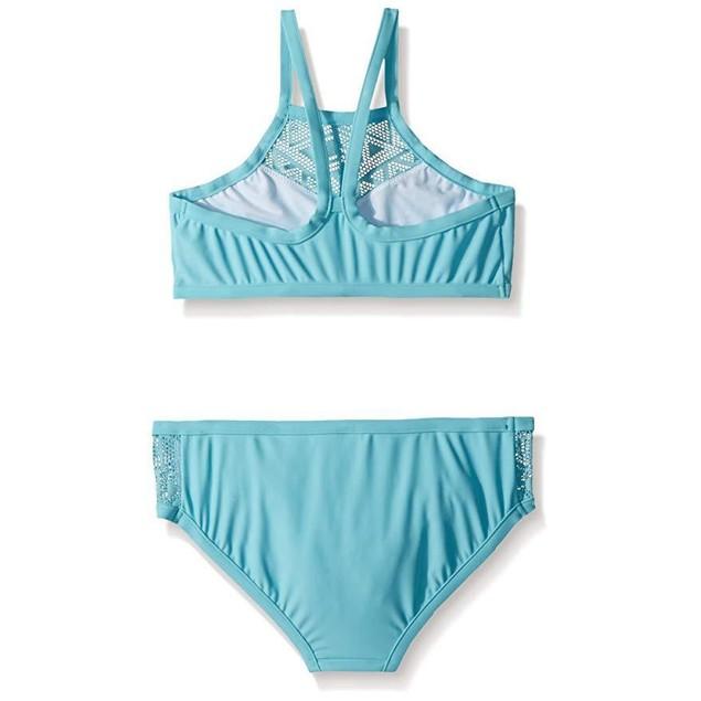Seafolly Girls' Big Apron Tankini Swimsuit, Aqua Sky, 12