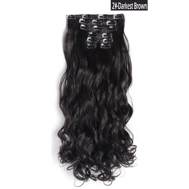 """7-Piece: 20"""" Curly Clip in Hair Extensions"""