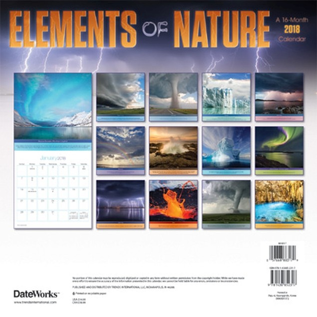Elements Of Nature Wall Calendar, Nature by Calendars