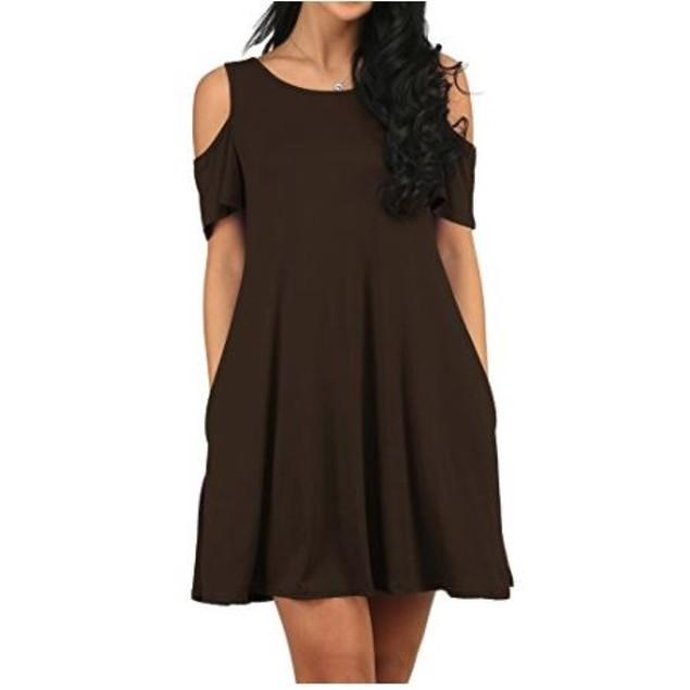 Cold Shoulder Cotton Dress