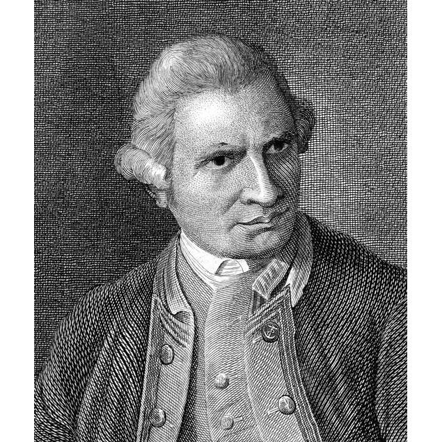 James Cook (1728-1779). /Nenglish Mariner And Explorer. Line Engraving, Ger