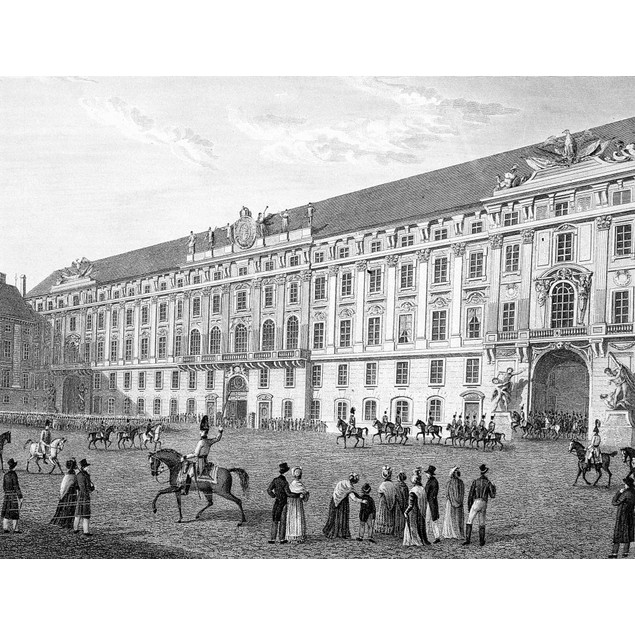 Vienna: Hofburg. /Nhofburg, The Imperial Palace In Vienna, Austria. Steel E