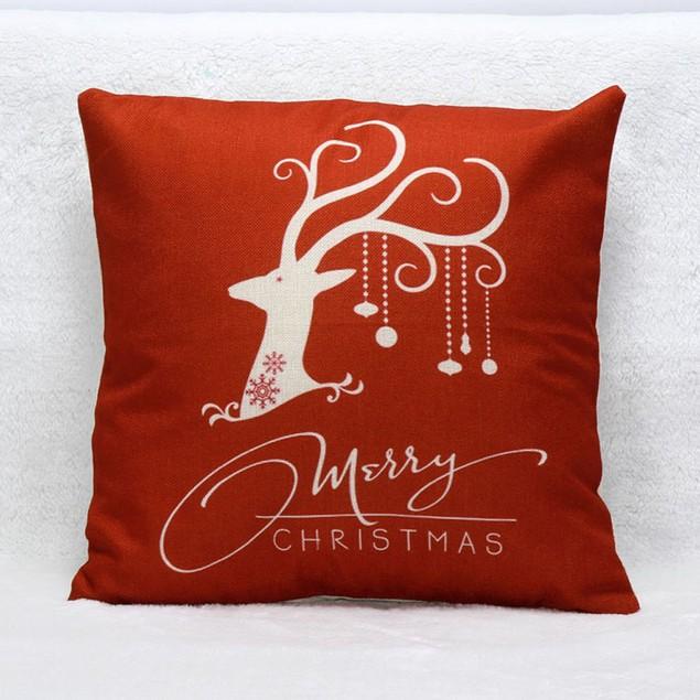 HOT!!! 45cm*45cm Christmas Deer Sofa Bed Pillow Case Cushion Cover