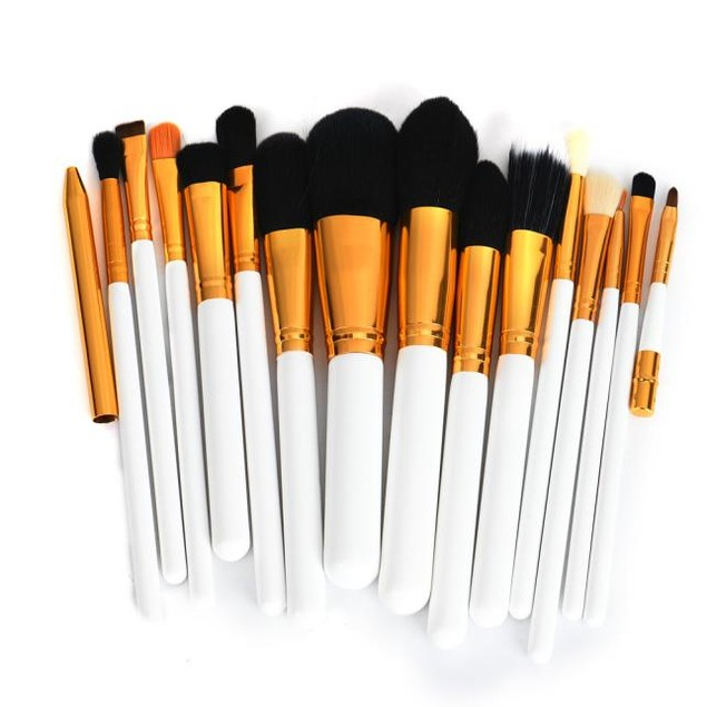 15PCS Professional brush set tool lip brush eyeliner eyeshadow foundation