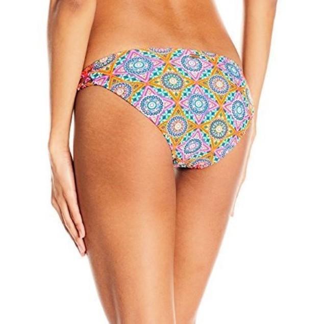 Volcom Women's Current State Full Bikini Bottom, Multi SIZE MEDIUM
