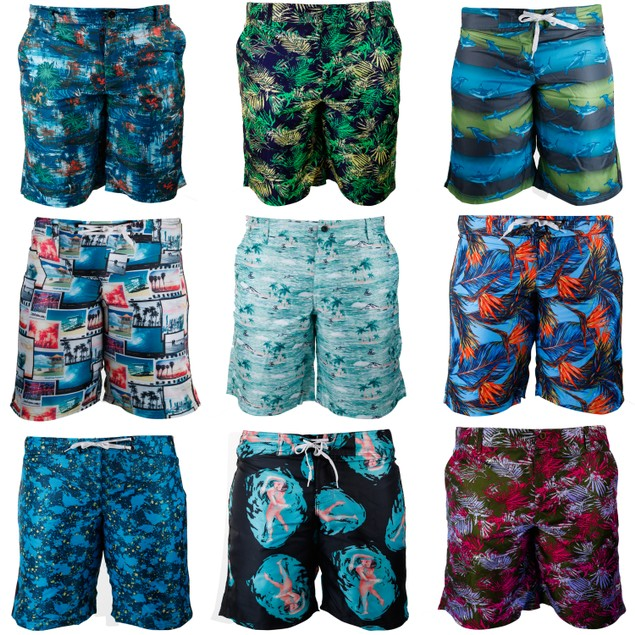 3-Pack Mystery Deal: Men's Super Comfy Fashionable Board Shorts