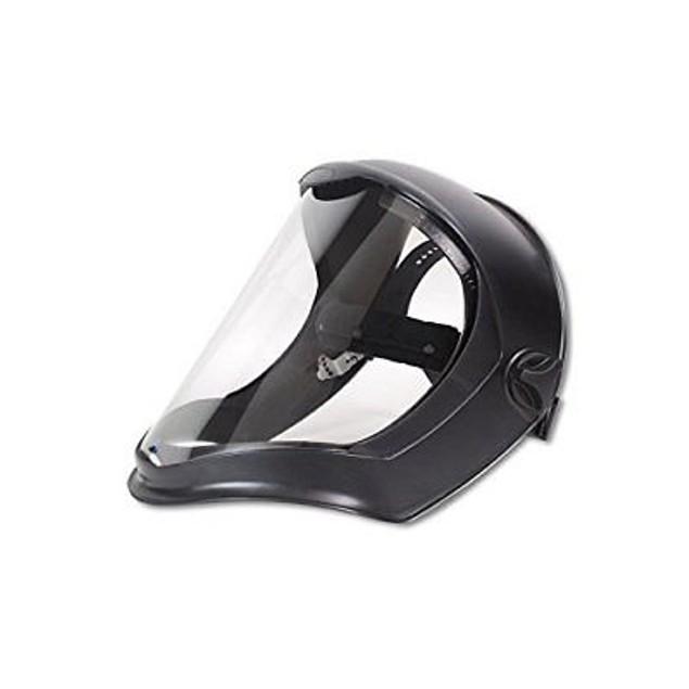 Uvex S8510 Bionic Face Shields, Clear/Black Matte