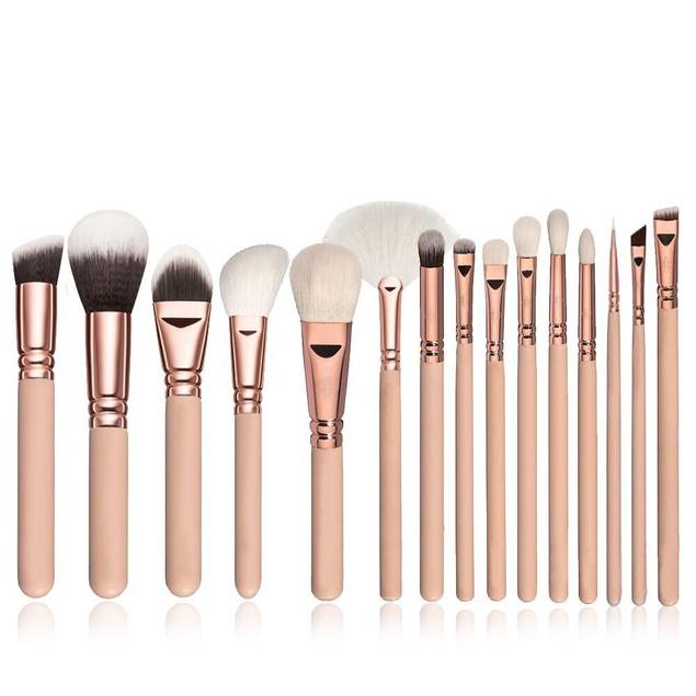 15 PCS Pro Makeup Brushes Set Cosmetic Complete Eye Kit + Case