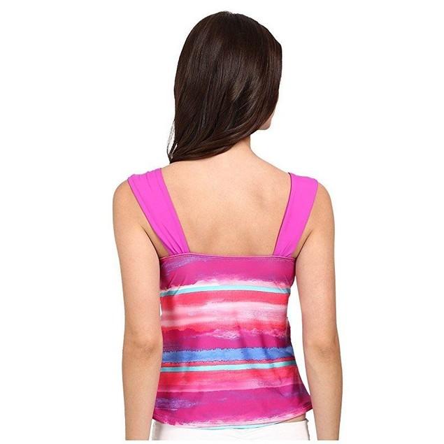 Athena Women's Bermuda Sunrise Tankini Top Multi Swimsuit Top 12