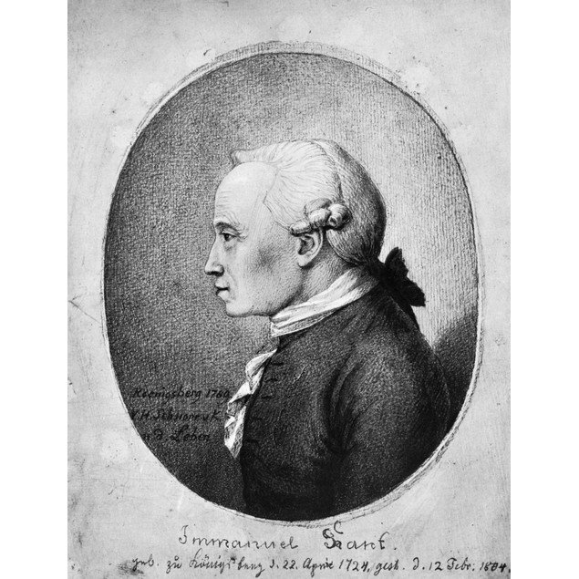 Immanuel Kant (1724-1804). /Ngerman Philosopher. Drawing, 1789, By Veit Han