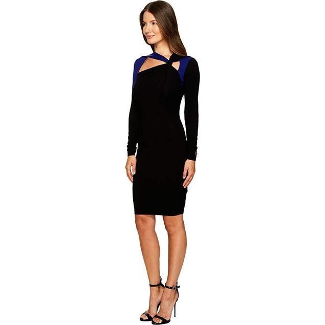 Versace Jeans Women's Long Sleeve Cut Out Dress Nero 40