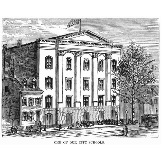 New York: High School. /Nhigh School In New York City. Wood Engraving, 1870