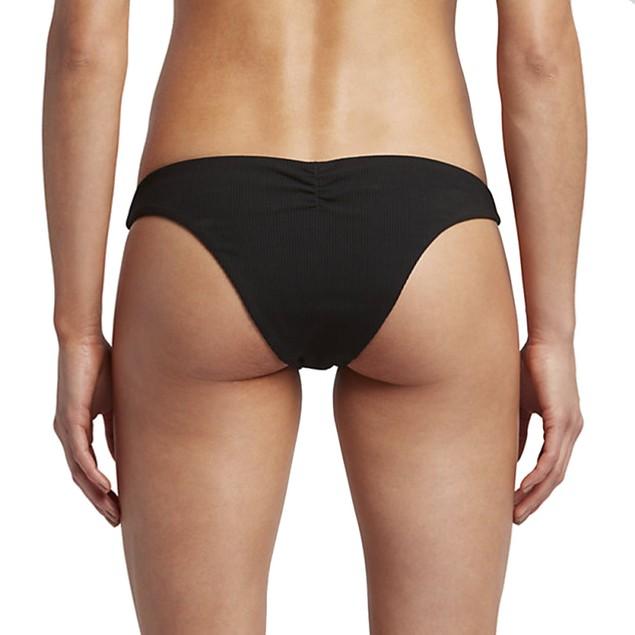 Hurley Women's Quick Dry Cheeky Bottom Black Swimsuit Bottoms sz: xl
