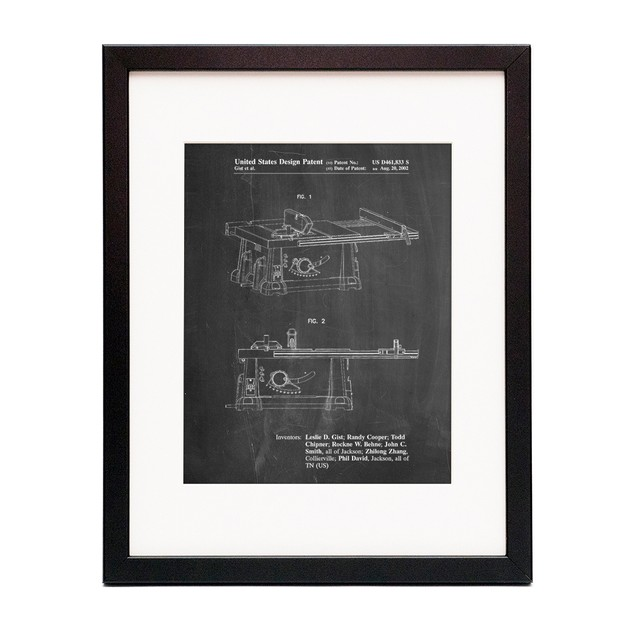 Table Saw Patent Poster