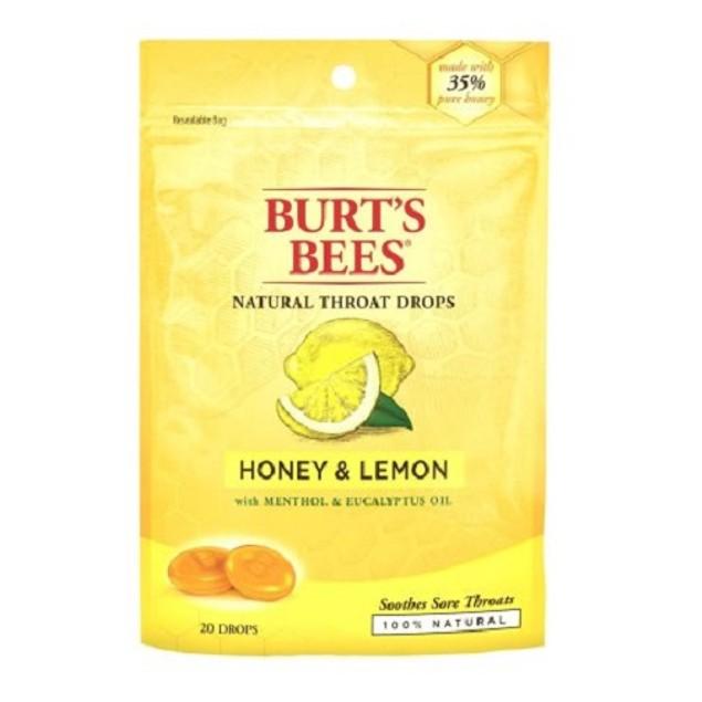Burt's Bees Natural Throat Drops Honey & Lemon