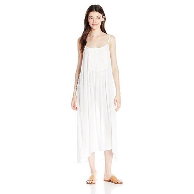 O'Neill Women's Lulu Maxi Cover up Dress, White/White,SZ  M