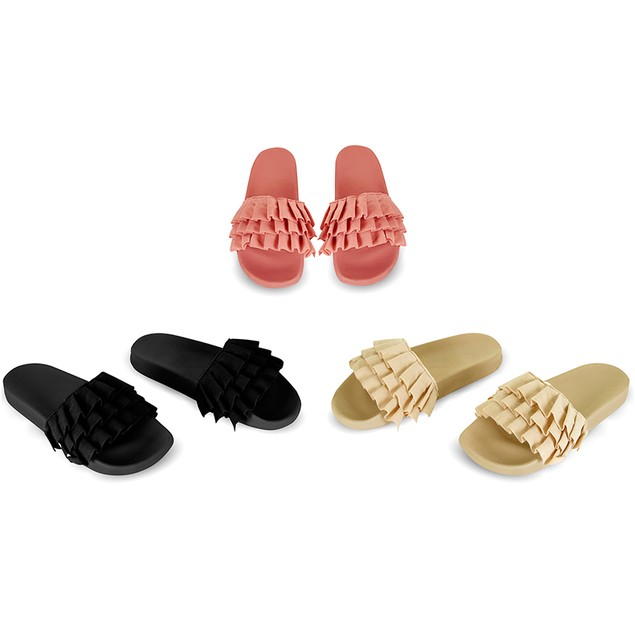 Women's Chatties Ruffle Slip on Sandals