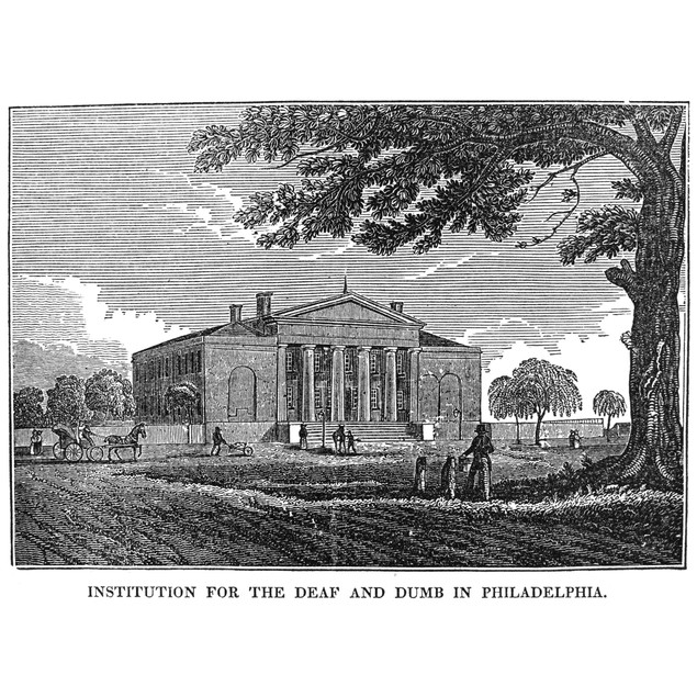 Deaf And Dumb Asylum, 1824. /Nthe Institution For The Deaf And Dumb At Phil