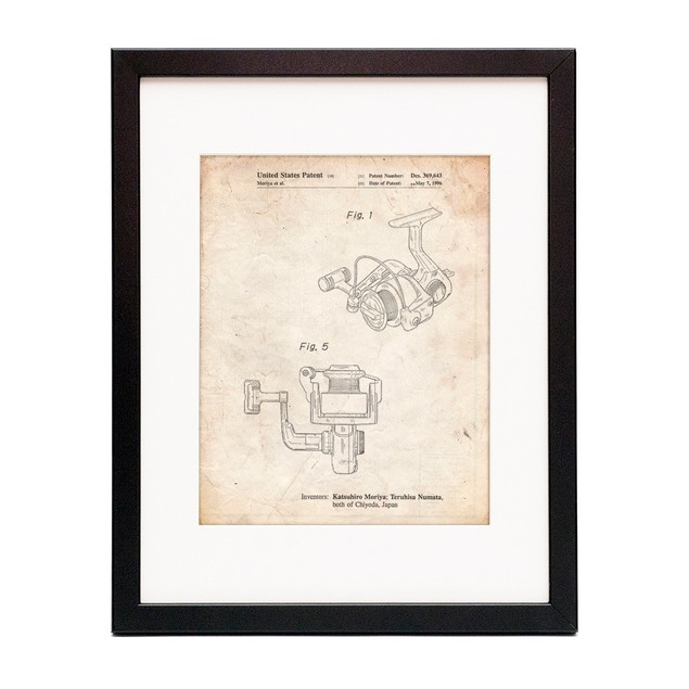Open Face Spinning Fishing Reel Patent Poster