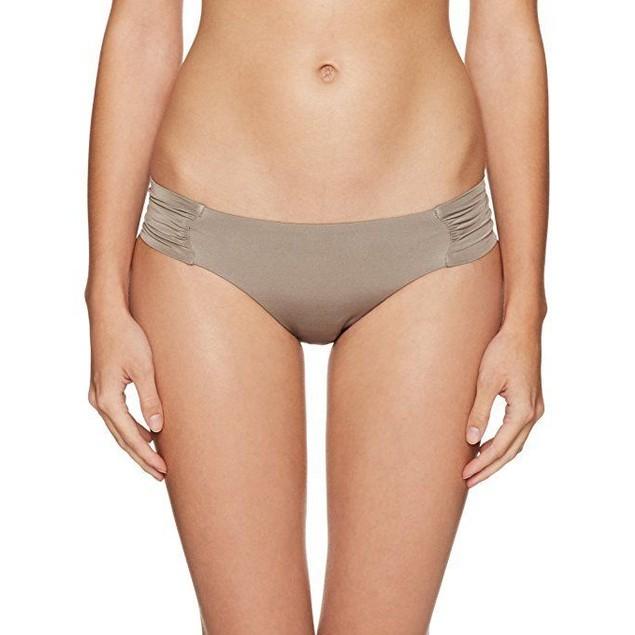 Trina Turk Women's Studio Solids Shirred Side Hipster Bikini Bottom SZ