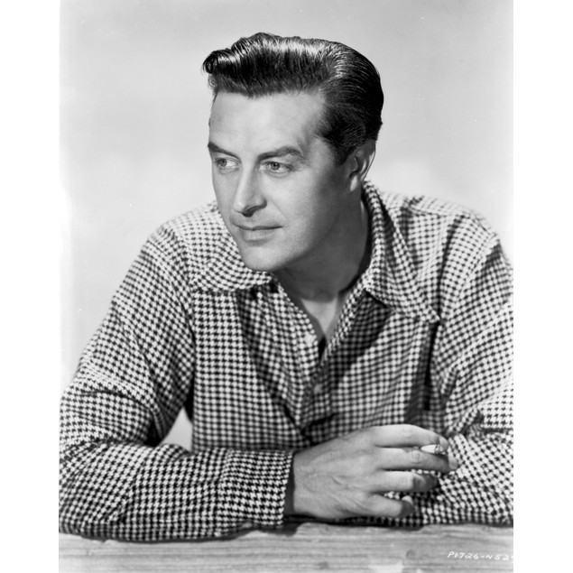 Ray Milland Looking Away Wearing Checkered Long Sleeves in Black And White
