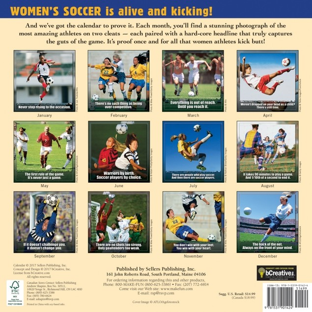 Kickin' It Women's Soccer Wall Calendar