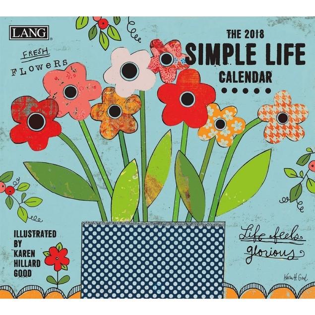 Simple Life Wall Calendar, Lang Folk Art by Calendars